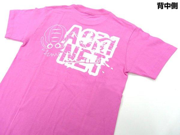 画像1: あおりねっとオリジナルTシャツ(エギ&ヤエンバージョン) ピンク【メール便だと送料90円】