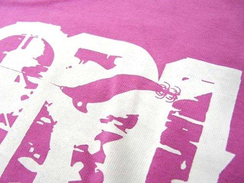他の写真2: あおりねっとオリジナルTシャツ(エギ&ヤエンバージョン) ピンク【メール便だと送料90円】