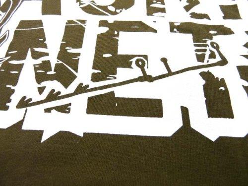 他の写真1: あおりねっとオリジナルTシャツ(エギ&ヤエンバージョン) オリーブ【メール便だと送料90円】