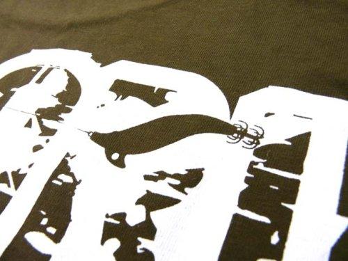 他の写真2: あおりねっとオリジナルTシャツ(エギ&ヤエンバージョン) オリーブ【メール便だと送料90円】