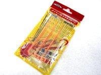 ニッコー化成(NIKKO)☆タイラバ用ネクタイワーム 211:オレンジレッドフレーク【メール便だと送料90円】