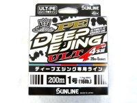 サンライン(SUNLINE)☆ソルティメイト(SaltiMate) PE ディープエジング ULT 4本組 1.0号 200m【ネコポスだと送料190円】