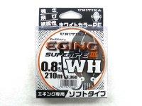 ユニチカ(UNITIKA)☆キャスライン エギングスーパーPE3 WH 210m 0.8号【ネコポスだと送料220円】