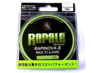 ラパラ(Rapala)☆ラピノヴァ・エックス マルチゲーム(RAPINOVA-X MULTI-GAME) 150m 0.6〜1.2号【メール便だと送料90円】