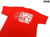 あおりねっとオリジナルTシャツ(エギ&ヤエンバージョン) レッド【ネコポスだと送料190円】