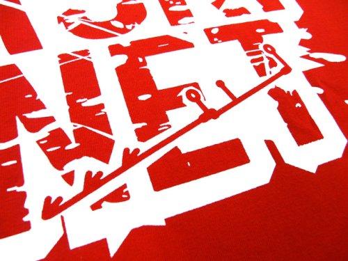 他の写真1: あおりねっとオリジナルTシャツ(エギ&ヤエンバージョン) レッド【メール便だと送料90円】