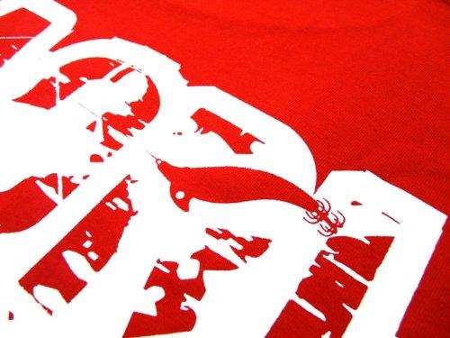 他の写真2: あおりねっとオリジナルTシャツ(エギ&ヤエンバージョン) レッド【メール便だと送料90円】