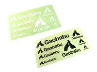 ガオバブ(Gaobabu)☆Gaobabuステッカー(切り抜き8種タイプ) ブラック【ネコポスだと送料220円】