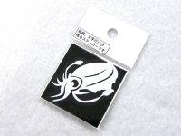 明光社☆ミニイカ2 白 M-33P アオリイカステッカー【ネコポスだと送料190円】