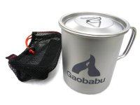 ガオバブ(Gaobabu)☆Gaobabuチタンマグカップ 400ml フタ・メッシュ袋付【送料590円(北・沖 除く)】