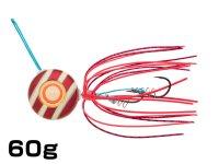 マルキユーECOGEAR☆TGアクラバヘッド クワセ 60g AH07:レッドメタルグロウストライプ【ネコポスだと送料190円】